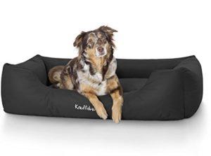 Knuffelwuff panier chien, lit pour chien, coussin, corbeille pour chien Finlay, imperméable, noir XXL 120 x 85cm