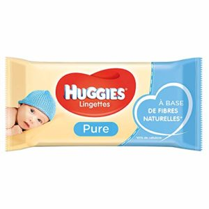 LINGETTES HUGGIES PURE 56 Unités