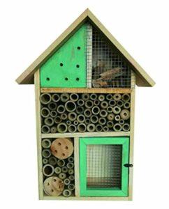 Nid-hôtel en bois pour insectes/abeilles/coccinelles Heritage – Toit vert – À fixer Medium Insect Hotel