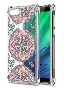 Oihxse Transparent Coque pour Xiaomi Redmi 7 Souple TPU Silicone Protection Etui Air Cushion [Shock-Absorption] [Anti-Rayures] Fleurs Motif Housse Bumper (B1)