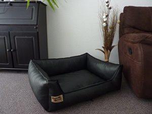 Panier pour chien Similpelle en cuir synthétique Noir 105 x 80 cm
