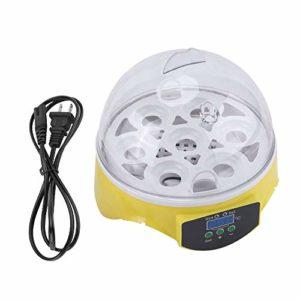 Rockyin 7 Effacer numérique Egg Turning Incubateur Hatcher Contrôle de la température de Canard Oiseaux