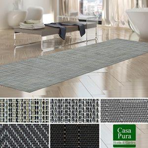 Tapis intérieur extérieur casa pura® résistant, antisalissure, impermeable et antidérapant | nombreux design/tailles | Matera – 60x150cm