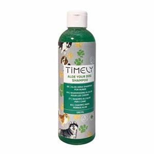 Timely – Shampooing pour chien à l'aloe vera délicat pour un pelage doux, 250ml
