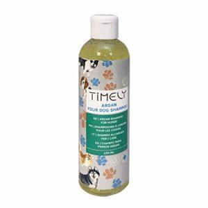 Timely Shampooing pour chien à l'argan pour poils rêches ou secs, 250ml
