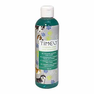 Timely – Shampooing pour chien régénérant aux vitamines, 250ml