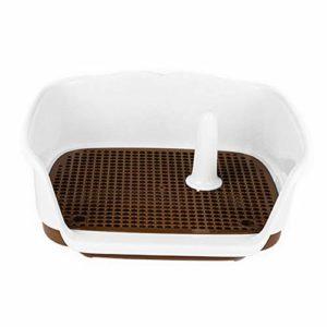 Toilettes Pour Animaux De Compagnie Support de coussin de maille de formation de boîte de plateau de toilette de pot de petit chien de chiot for l'usage d'intérieur for des animaux familiers Toilettes