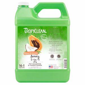 Tropiclean 2en1 Shampooing pour Chien Papaye/Noix de Coco 3,78 L 16:1 1 Unité