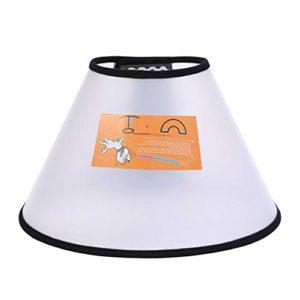 Vtops Collier cône réglable pour chien Confortable Anti-morsure, 1
