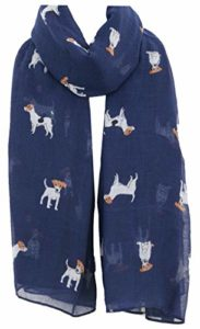 World of Shawls Écharpe en forme de carlin pour chien teckel – Bleu – 100 x 180