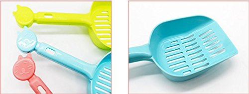 Xuxuou 1Pcs Pelle a litiere de Chat Plastique Pelle à Litière Chat Ease Cleaning Pick up Tool Pet