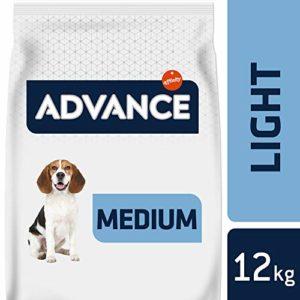 Advance Croquettes pour Chien Medium Light Poulet et Riz 12 kg