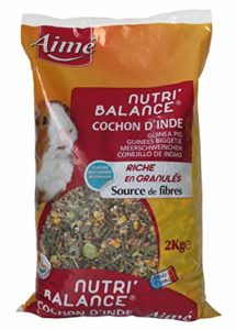 Aime Nourriture Nutri'Balance pour Cochon D'inde 2 Kg – Lot de 2