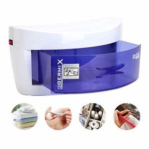 AIWKR Stérilisateur UV, Une Seule Couche Désinfecteur De Tiroir Portable Mobile Beauté Salon Spa Tatouage Outils à Ongles,Tue 99,9% des Germes et Bactéries