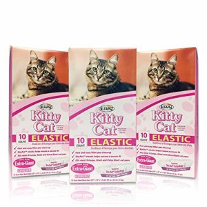 Alfapet Kitty Cat Extra-Giant élastique STA-Put Litière pour Chat Sacs 10par Boîte (3.
