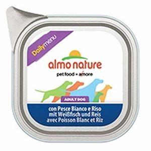 Almo Nature webazar Daily Chien Barquette Poisson Blanc et Riz 300grammes