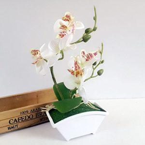 Amuster_Fleur Artificielle de Roses Feuilles Floral Mariage Bouquet Parti Maison décoration