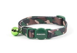 Ancol Collier pour chat Camouflage Quick Release Collier pour chat avec Bell