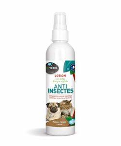 Biovetol – Lotion Anti-Insectes – Anti-Puce pour Chat et Chien – 240 ML