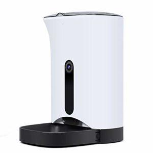 BYCWS Pet Feeder, Chargeur Automatique pour Animaux de Compagnie pour Chiens et Chats, ContrôLe Automatique des Portions et Enregistrement Vocal (4.3L)