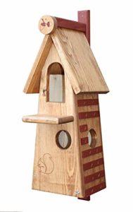 C&M écureuil Futterstation boîte de nidification; Dimensions: env. H 57 x Largeur 23 x T 22 cm