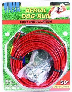 Coastal Pet Products 828013Titan d'antenne Dog Run–Rouge et Bleu & # 44; 15,2m.