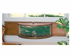 Coveside panoramique In-House fenêtre Mangeoire à oiseaux avec panneau effet miroir