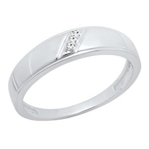 DazzlingRock Collection 10 carats Or Blanc Rond I-J Diamant Blanc