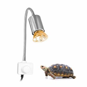Decdeal 25W UVA UVB 360° Lampe chauffante, Lampes de Chauffage et Porte-Lampe pour des Reptiles Aquarium Tortue, lézard, Serpent