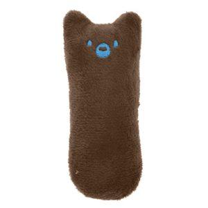 display08 Jouet Amusant en Peluche pour Animal Domestique avec Herbe à Chat Motif Dessin animé