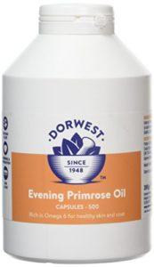 Dorwest Herbs – Gélules d'huile d'oenothère pour chien et chat – 500 gélules