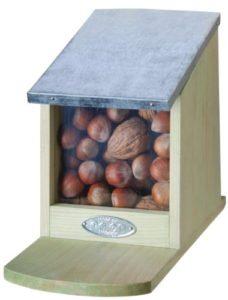 Écureuil Mangeoire, Mangeoire, écureuil, maison, pliant Couvercle en métal, sans Noix, env. 12cm x 17,5cm x 22,5cm