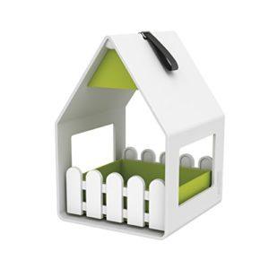 Emsa 514495 Landhaus Mangeoire pour Oiseaux Polypropylène Blanc/Vert