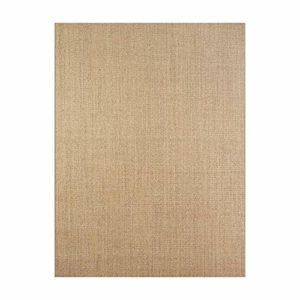 Enkoo Tapis Simple, Salon, Table Basse, Chambre à Coucher, couvertures de Chevet, Tapis de Sol en Lin en Paille, Couleur Primaire en sisal personnalisé (Brun Clair) (Taille : 160CM*230CM)