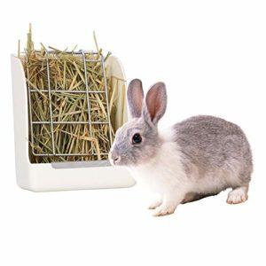 Fushida Mangeoire à foin pour lapin, distributeur de nourriture sans désordre – Garde le foin au sec, la luzerne et autres graminées pour cochons d'Inde, chinchillas, hamsters