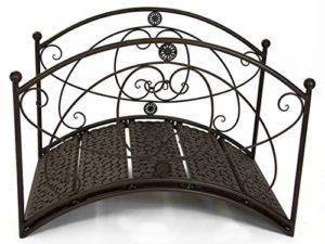 GeKi Trend Pont de Jardin en métal forgé avec Balustrade et décoration de Jardin Antique