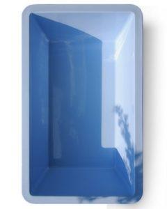 GFK rectangulaire bac 6076, Bassin, 7000l, 386x 236x 100cm, de M + W Jardin Flair Blau-Granit