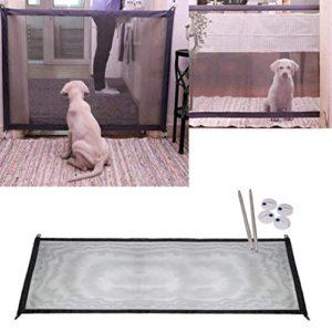 Givbro magique Pets protection de sécurité Portableisolated Gaze pour animaux de compagnie Chien Chat pliable Gate Distance de garder pour vos animaux domestiques à partir de cuisine ou extérieur