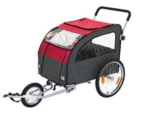 Globetrotter Durable et Multifonctionnel Chien Remorque de vélo avec kit de Jogging–pour Chiens jusqu'à 40kg–Idéal façon de Prendre Votre Chien sur Une Parcours à vélo ou Les randonnées