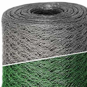 Grillage a poule casa pura® | cloture poulailler jardin voliere | galvanisé | triple torsion, maille fine hexagonal 13mm – 1m x 25m (HxL)