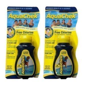 Happy Hot Tubs Lot DE 2Aquachek 4Way Chlore Bandelettes de Test (100) Jacuzzi Piscine Aquacheck