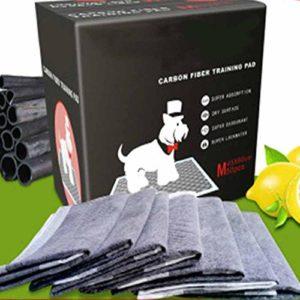 HO.FMA Bambou Charbon DéOdorant Chiots EntraîNement Tapis, Chien Haute Absorption Odeur Fermer à Clé Multicouche EntraîNement Tapis pour Tout Animaux Domestiques