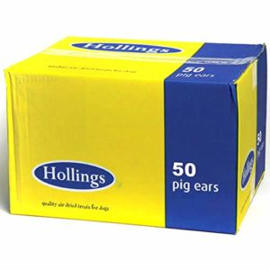 Hollings Hollings Natural Dog Treat Pigs Ears Bulk x 50