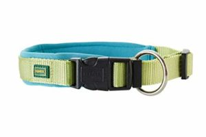 Hunter – Collier en nylon – Chien (45) (Vert/Bleu)