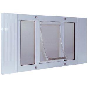 Ideal_Pet_Products 27swdxl Aluminium Sash Window Pet Porte, XL/26,7x 38,1cm, Blanc