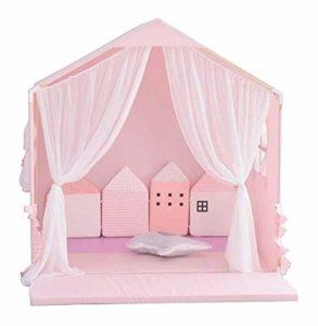 Inconnu Lits pour Animaux Nest Dog House Pet Tente Chaud Kennel Hiver Maison de Type Princesse Amovible et Lavable Accessoires Run anmy20200323 (Couleur, Bleu, Taille, L),L,Rose