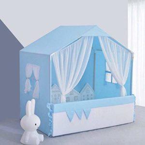 Inconnu Lits pour Animaux Nest Dog House Pet Tente Chaud Kennel Hiver Maison de Type Princesse Amovible et Lavable Accessoires Run anmy20200323 (Couleur, Bleu, Taille, L),M,Bleu