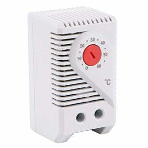 iplusmile Régulateur de Température AC110V ~ 220V Thermostat Mécanique Dissipateur Thermique Et Relais Statique 100 à 240ACV ITC-106VH 40DA SSR Dissipateur de Chaleur Blanc Sonde K