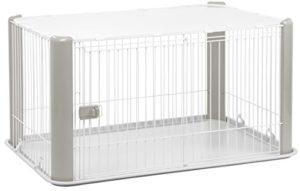 Iris Ohyama Pet Circle CLS-1130, cage d'extérieur, enclos, chenil avec toit, parc pour chien, plastique, gris, 9,2 kg, 78,8 x 113 x 60 cm