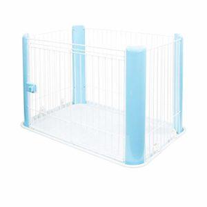 Iris Ohyama Pet Circle CLS-960 cage d'extérieur, enclos, chenil et et parc pour chien, plastique, bleu, 7 kg, 92 x 63 x 60 cm